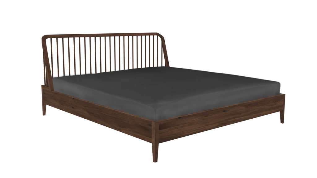 Walnut Spindle Bed Queen Size Axom Home, Walnut Spindle Bed Queen